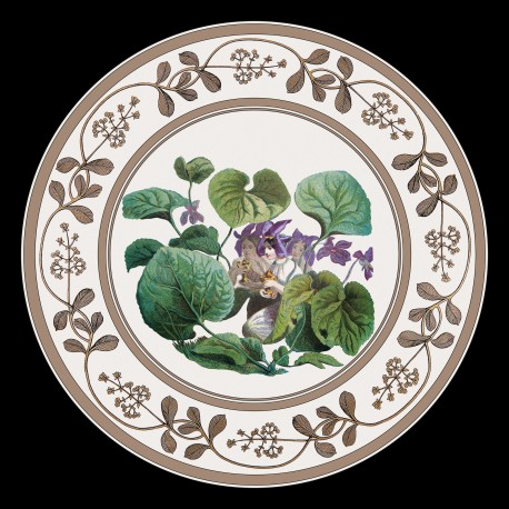 La Violette assiette en tole