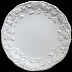 """Assiette à dessert blanc cassé uni """"George Sand"""""""
