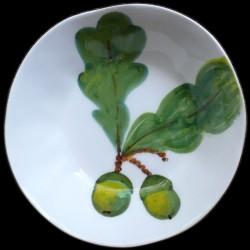 Feuille de Chêne Assiette creuse D 23 cm