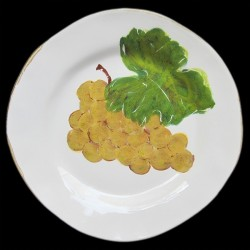 Raisin blanc assiette dessert D 23 cm