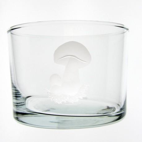 Verre droit bas Cèpes 120 ml H 6 cm D 8,5 cm