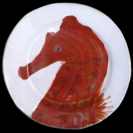 Hippocampe assiette à dessert D 23 cm