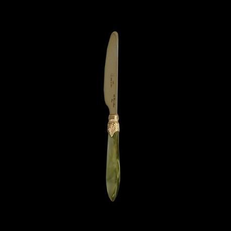 Couteau de table collection Rock Vert Olive et or
