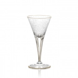 Verre à vin blanc en cristal gravé sans filet or 100 ml collection MAHARANI