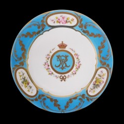 Royal collection Assiette tole Queen Victoria