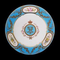 Royal collection Assiette tole Queen Victoria