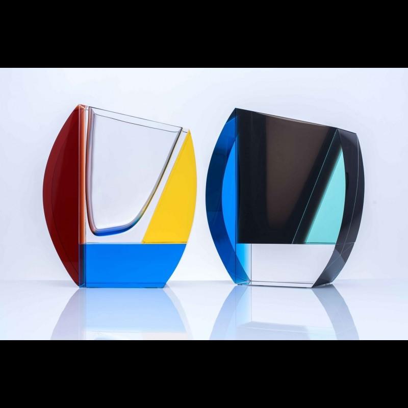 Vase en cristal mondrian au bain marie for Mondrian vase
