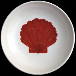 Coquille St Jacques grand plat creux saladier 38 cm