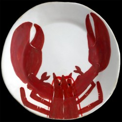 Homard breton Assiette de table 28 cm