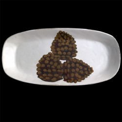 Pomme de pin Plat long oval 46x23 cm