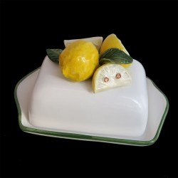 Beurrier faience Citrons