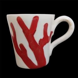 Majolica sea urchin mug