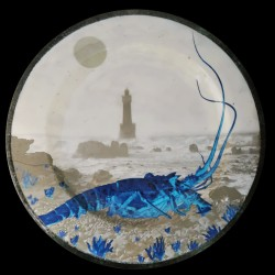 Melamine Crayfish Ouessant collection dinner plate