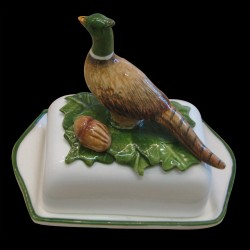 Butter dish with mushrooms on the top