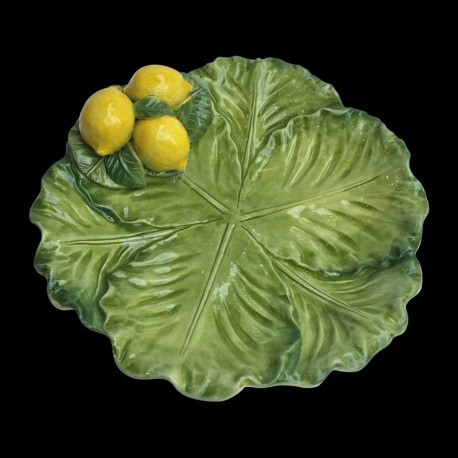 Majolica small plate cabbage Lemons
