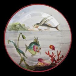 """Assiette en tôle """"Le Monde Fantastique"""" Poisson volant"""