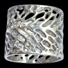 Botanical napkin ring pewter