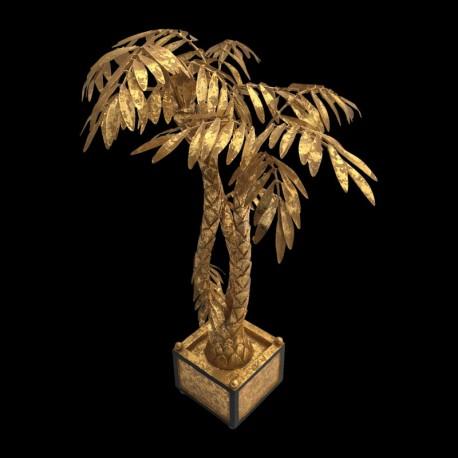Centre de table palmier doré