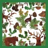 Set of 20 paper napkins Forest collection
