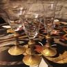 Flute à champagne Cristal gravé doré Collection Wagner