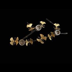 Candélabre 3 bougies Brindille Papillons