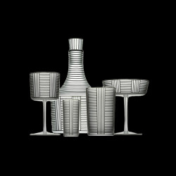Cristal vodka glass Hoffmann collection
