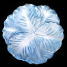 Majolica blue cabbage dessert plate