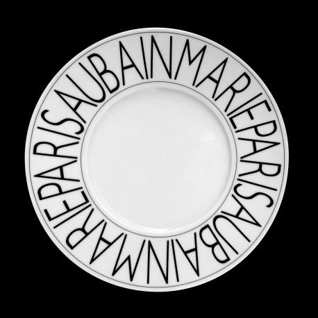 Porcelain dessert plate Graphic