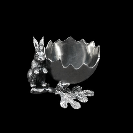 Pewter Eggcup Rabbit