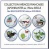 "Box of 6 decorative tin plates ""Bracquemond"" N°1"