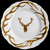 Limoges porcelain dinner plate antler deer and deer head