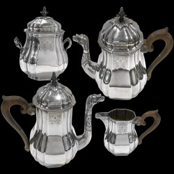 Tea and Coffee Set in silver, 4 pieces, by G.Falkenberg
