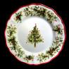 Majolica Christmas Tree dessert plate Red nose