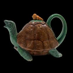 Tortoise Majolica Teapot by Minton