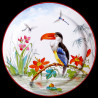 "Decorative Tin plate ""The Birds"" Buffon Toucan"