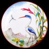 "Decorative tin plate ""The Birds"" Buffon Great blue heron"