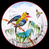 "Decorative tin plate ""The Birds"" Buffon Celebes hornbill"