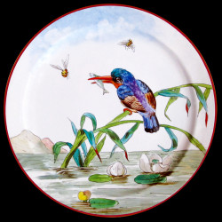 "Tin plate ""The Birds"" Kingfisher"