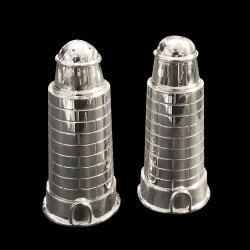 Silver plated Lighthouse salt and pepper
