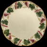 "Majolica ivory and red fruits dinner plate ""George Sand"""
