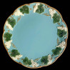 """Assiette de table faïence turquoise """"George Sand"""""""