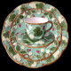 """Majolica turquoise desert plate """"Georges Sand"""""""