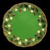 "Majolica green dessert plate ""George Sand"""