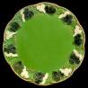 """Assiette de table faïence verte """"George Sand"""""""