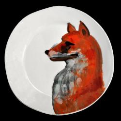 Assiette de table faïence Renard