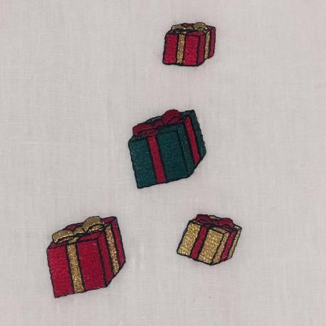 Set de table lin brodé collection Noël
