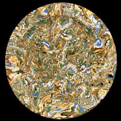 Assiette ronde multicolore terre mêlée collection Epice forme disque