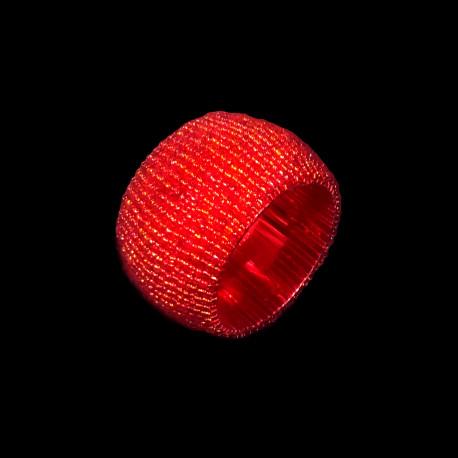 Red beaded napkin ring