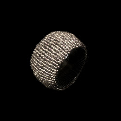 Silver beaded napkin ring