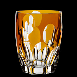 Orange crystal Sphere tumbler glass